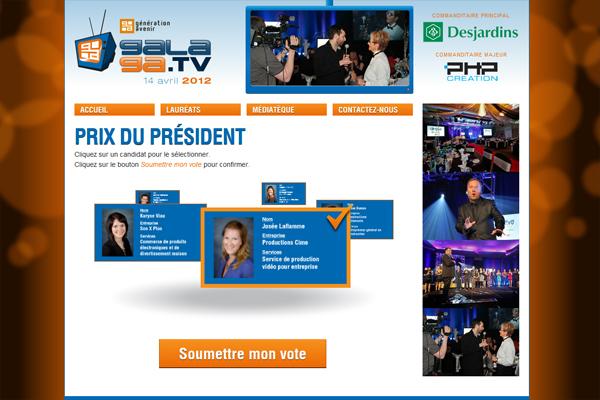 Page de vote